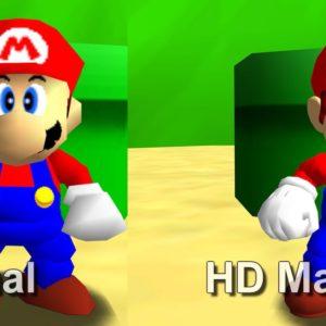 Image article Super Mario 64 PC : le portage améliore les graphismes du jeu original avec un mod