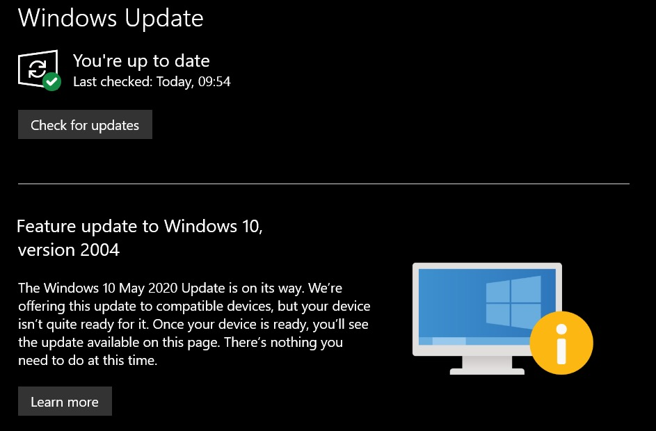 Windows 10 Mise A Jour Mai 2020 Bloquee