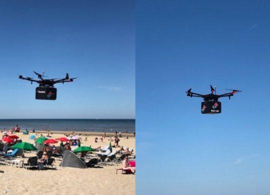 dominos drone