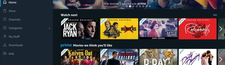Application Amazon Prime Video Windows