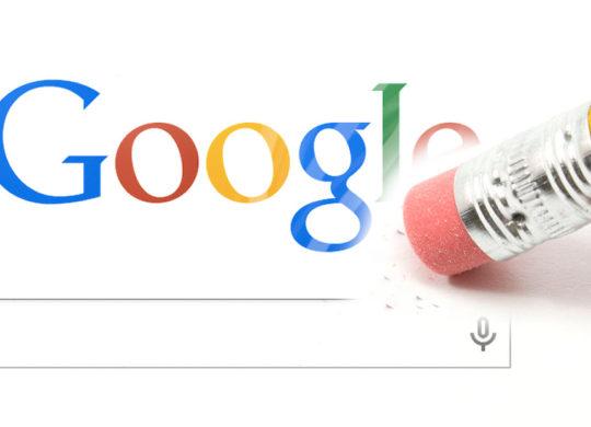 Droit Oubli Google