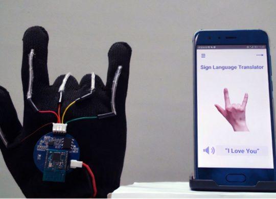 Gant langage des signes
