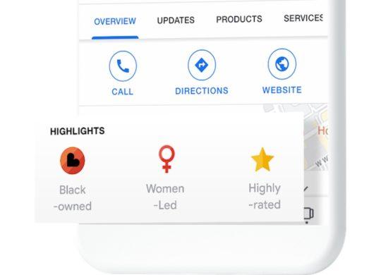 Google Badge Commerces Tenus Noirs Recadre