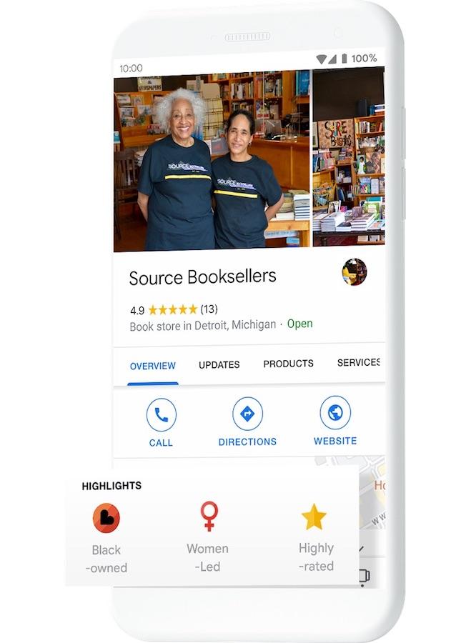 Google Badge Commerces Tenus Noirs
