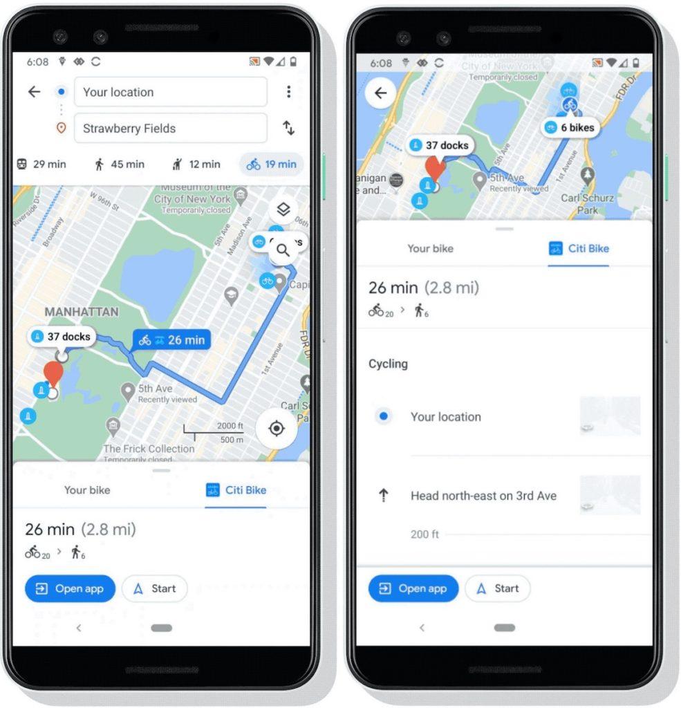 Google Maps Velo Libre Service 985x1024