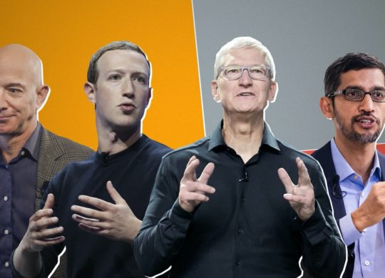 Jeff Bezos Mark Zuckerberg Tim Cook Sundar Pichai
