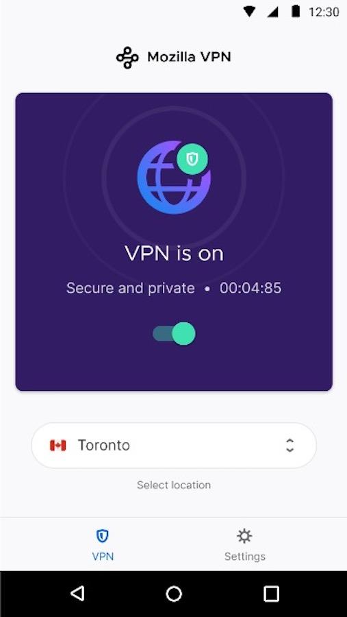 Mozilla VPN Application Android
