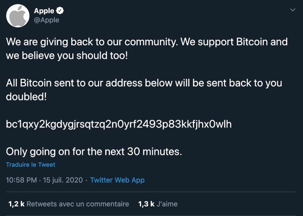 Piratage Twitter Bitcoin Tweet 1024x731