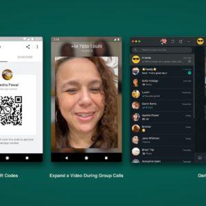WhatsApp ajoute les codes QR, un mode sombre sur ordinateur et des stickers animés