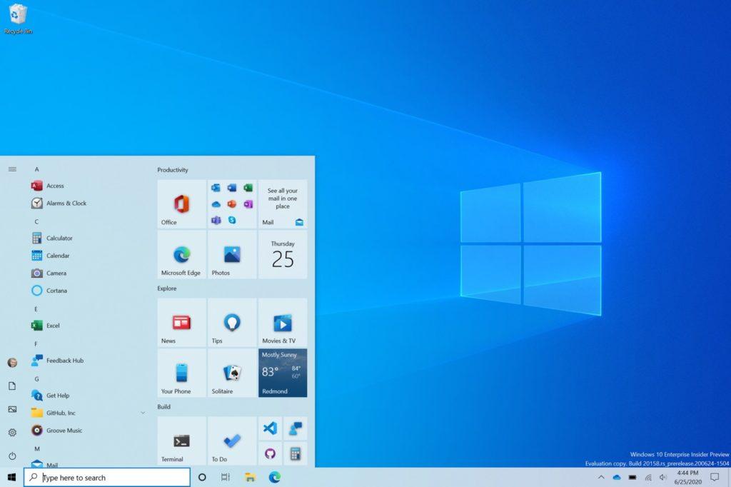 Windows 10 Nouveau Menu Demarrer Juillet 2020 Pilotes