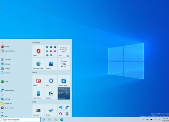 Windows 10 Nouveau Menu Demarrer Juillet 2020 Bureau