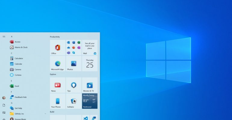 Windows 10 Nouveau Menu Demarrer Juillet 2020