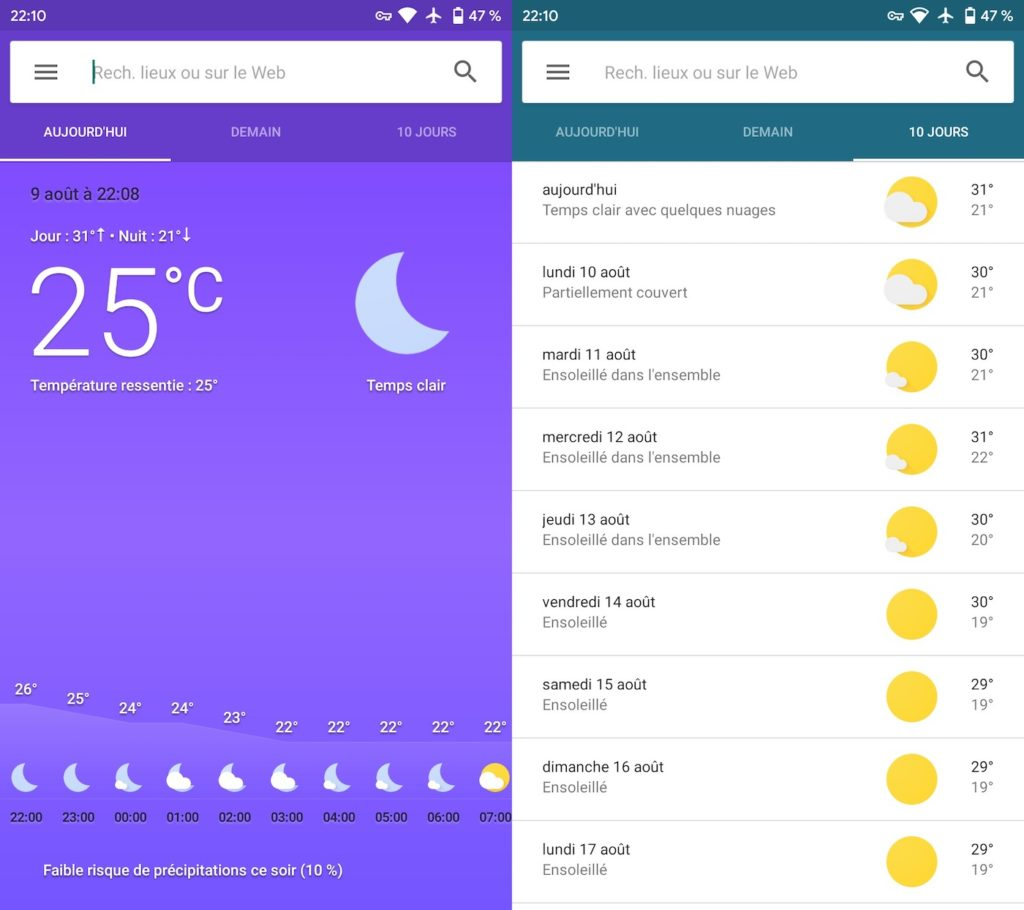 Application Meteo Android 1024x910