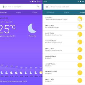 Image article Android : des utilisateurs ont perdu l'accès à l'application Météo