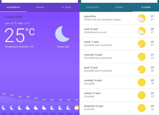 Application Meteo Android