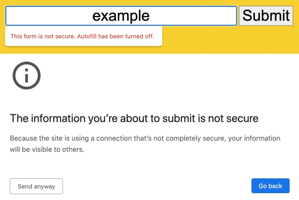 Chrome 86 Alerte Formulaire Non Securise 1024x687