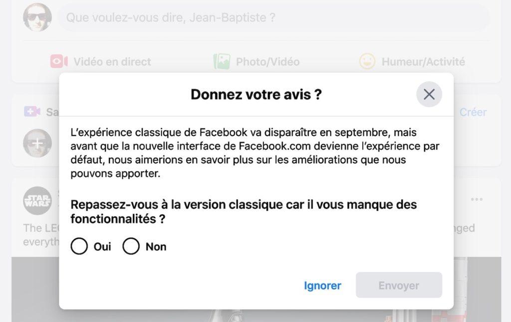 Facebook Abandon Ancienne Interface Septembre 2020 1024x646
