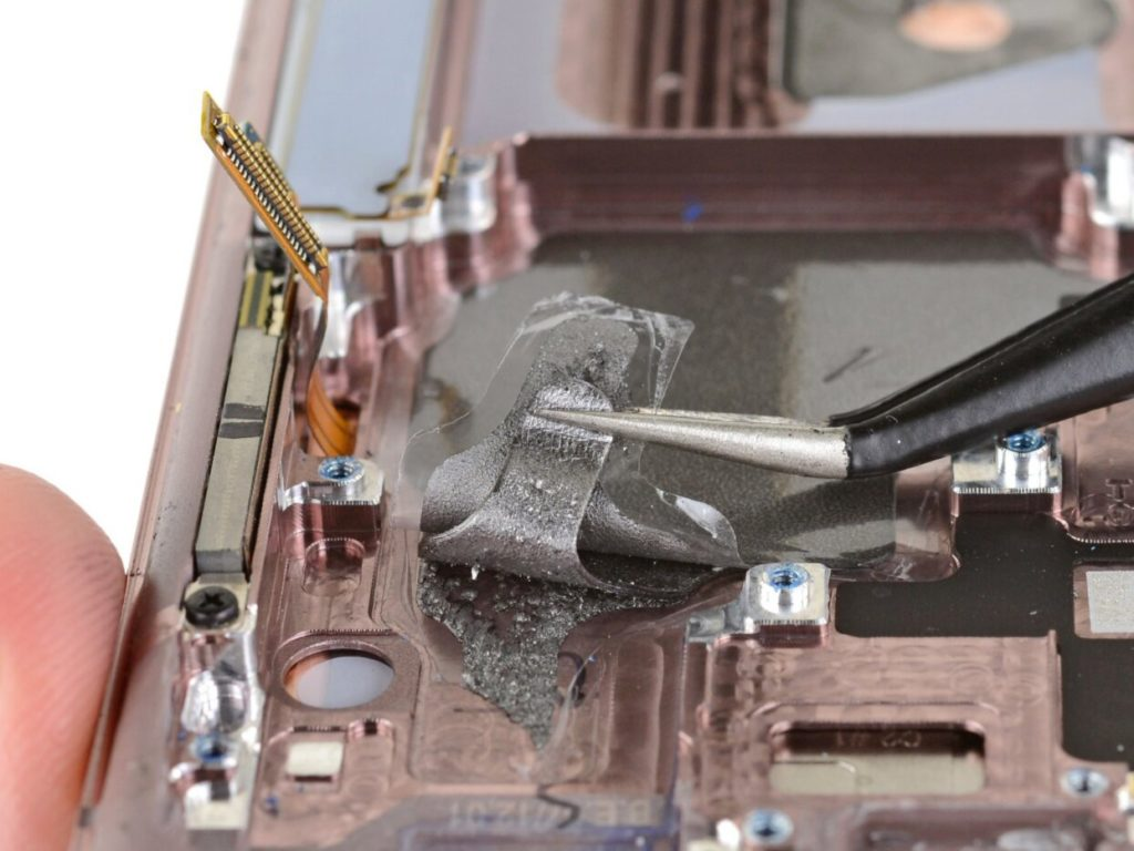 Galaxy Note 20 Demontage Pad Thermite Graphite 1024x768