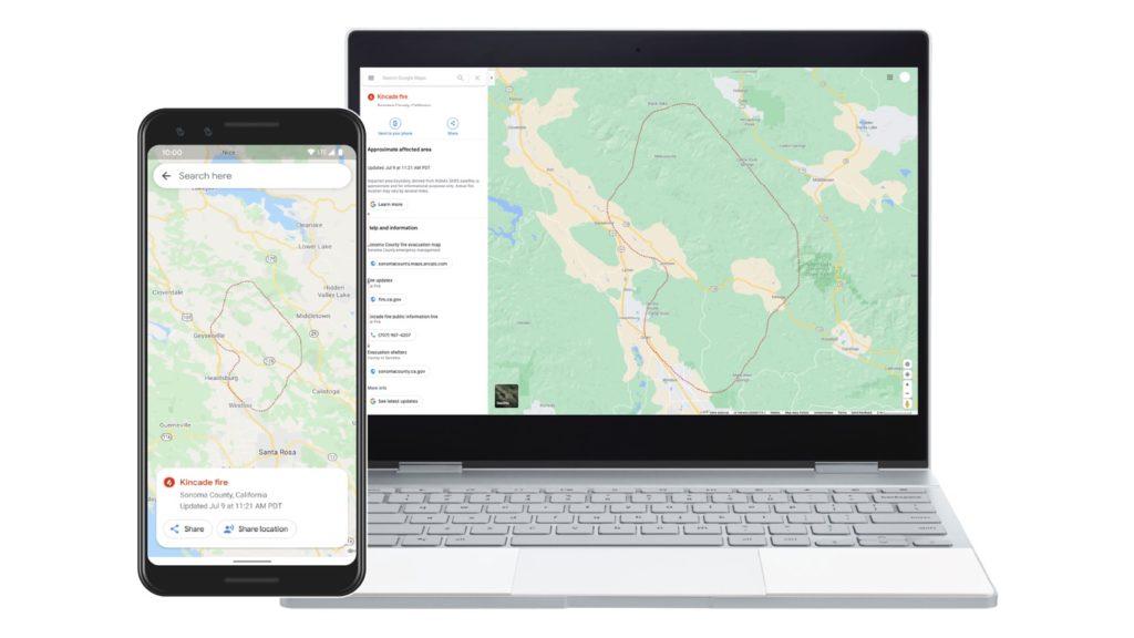 Google Maps Feux De Forets Informations 1024x576