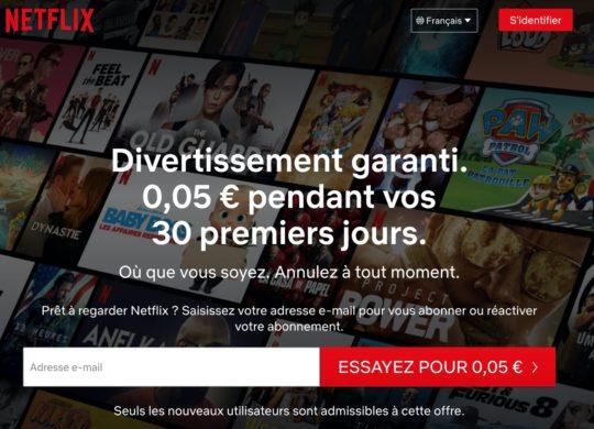 Netflix Premier Mois 5 Centimes