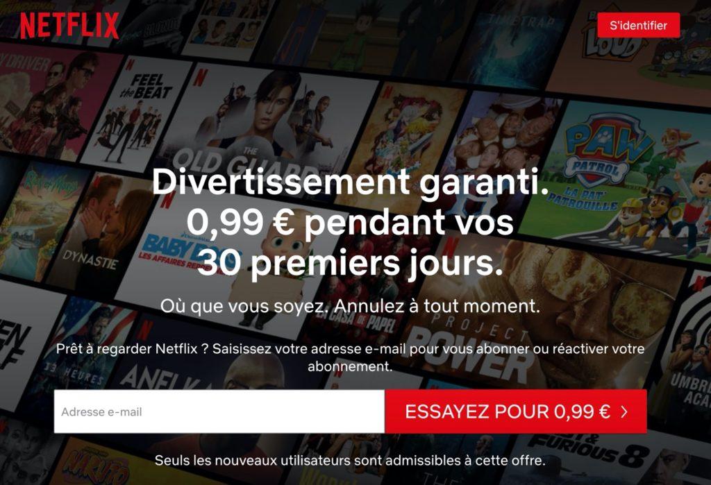 Netflix Premier Mois 99 Centimes 1024x699