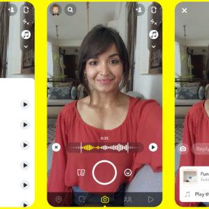 Image article Snapchat s'inspire de TikTok pour ajouter de la musique aux vidéos