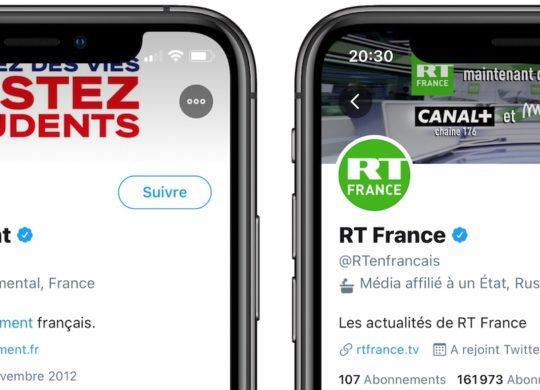 Twitter Etiquette Comptes Gouvernements Medias Affilies Etats