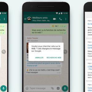 Image article WhatsApp ajoute une fonction de recherche pour lutter contre les fake news