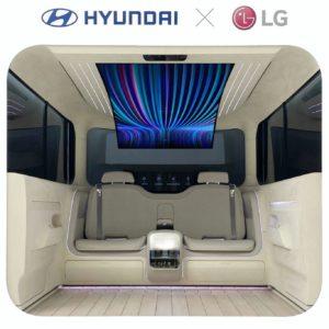 Image article IONIQ Concept Cabin : un écran LG 77″ flexible dans un prototype Hyundai d'habitacle de voiture