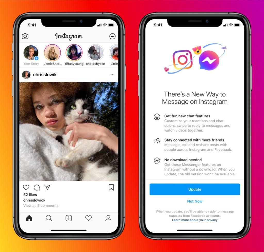 Regroupement Messageries Messenger Instagram 1024x977