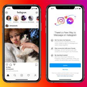 Image article Facebook regroupe les messages privés de Messenger avec ceux d'Instagram