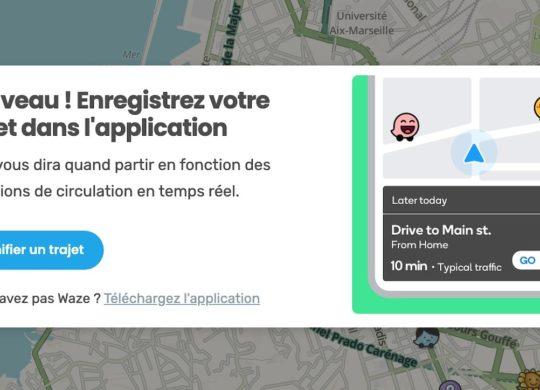 Waze Envoi Trajet PC vers Smartphone