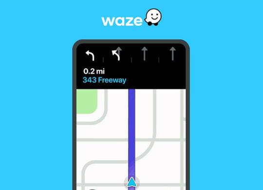Waze Guidage Voies Circulation