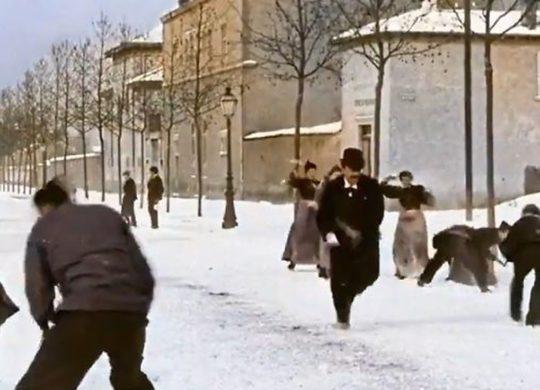 Bataille de boules de neiges