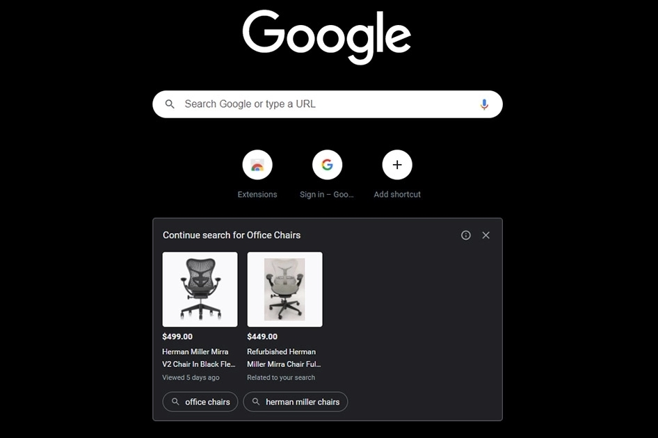 Google Chrome Nouvel Onglet Publicité