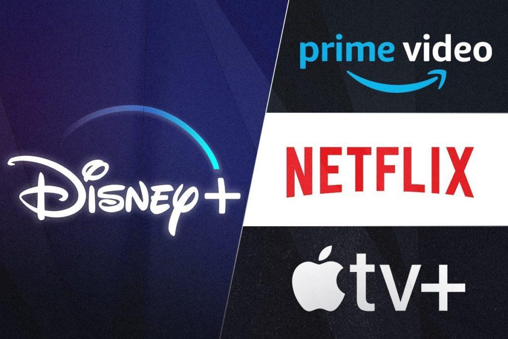 Disney Plus vs Amazon Prime Video vs Netflix vs Apple TV Plus Logos