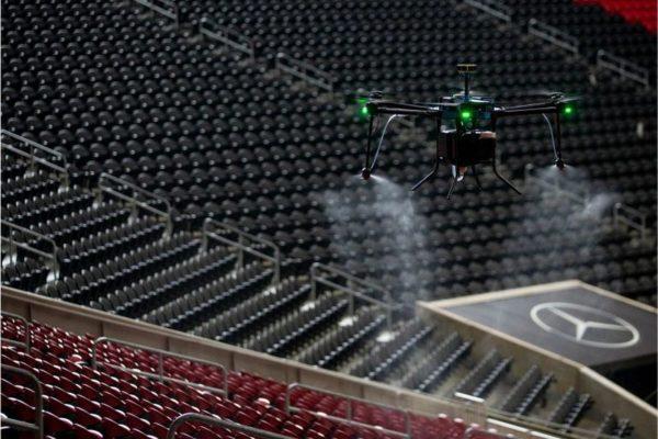 drones nettoyeur pour lutter contre le coronavirus