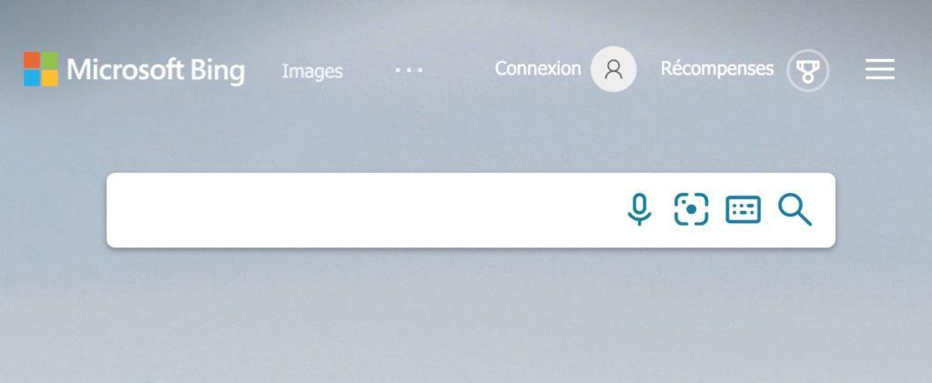 Microsoft Bing et sa barre de recherche