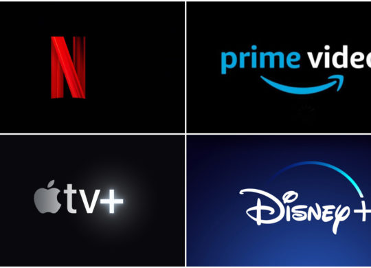 Netflix vs Amazon Prime Video vs Apple TV Plus vs Disney Plus Logos