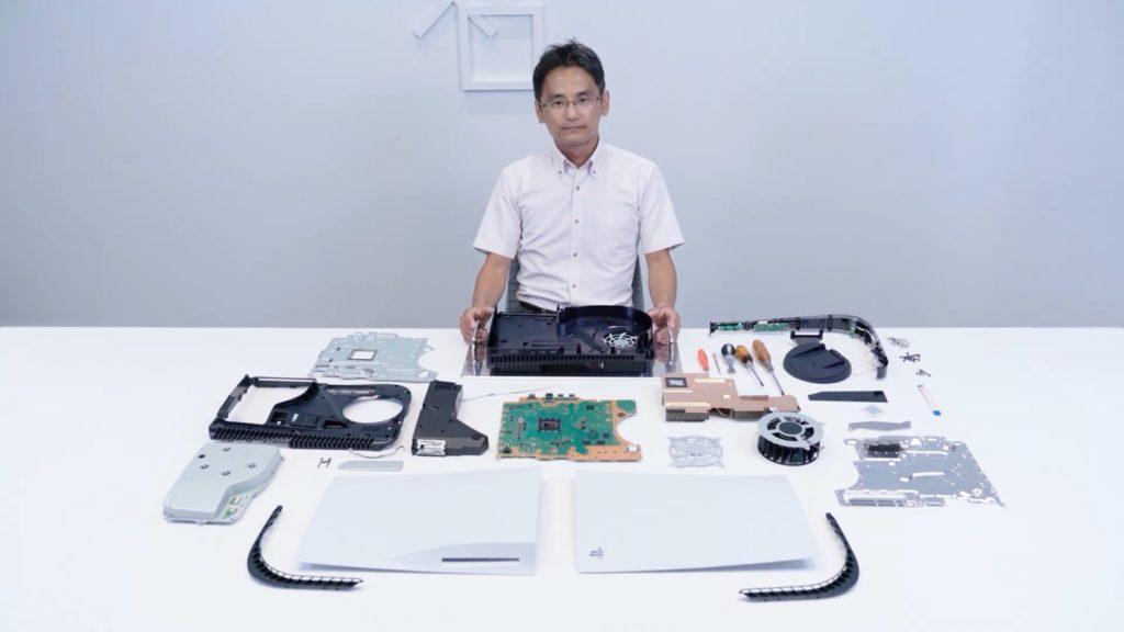PS5 Démontage avec les composants