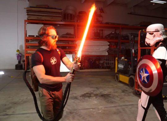 Sabre laser plasma