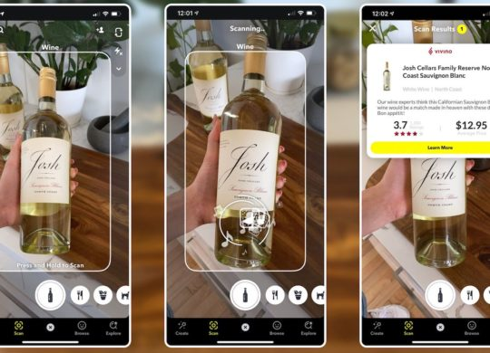Snapchat Scan Etiquettes Vins