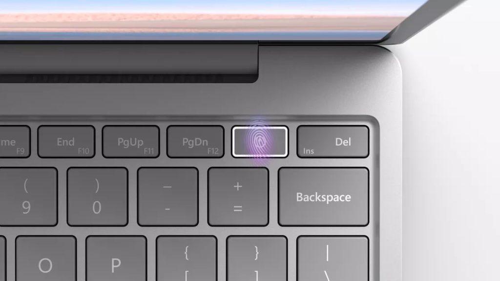 lecteur d'empreinte Surface Laptop Go
