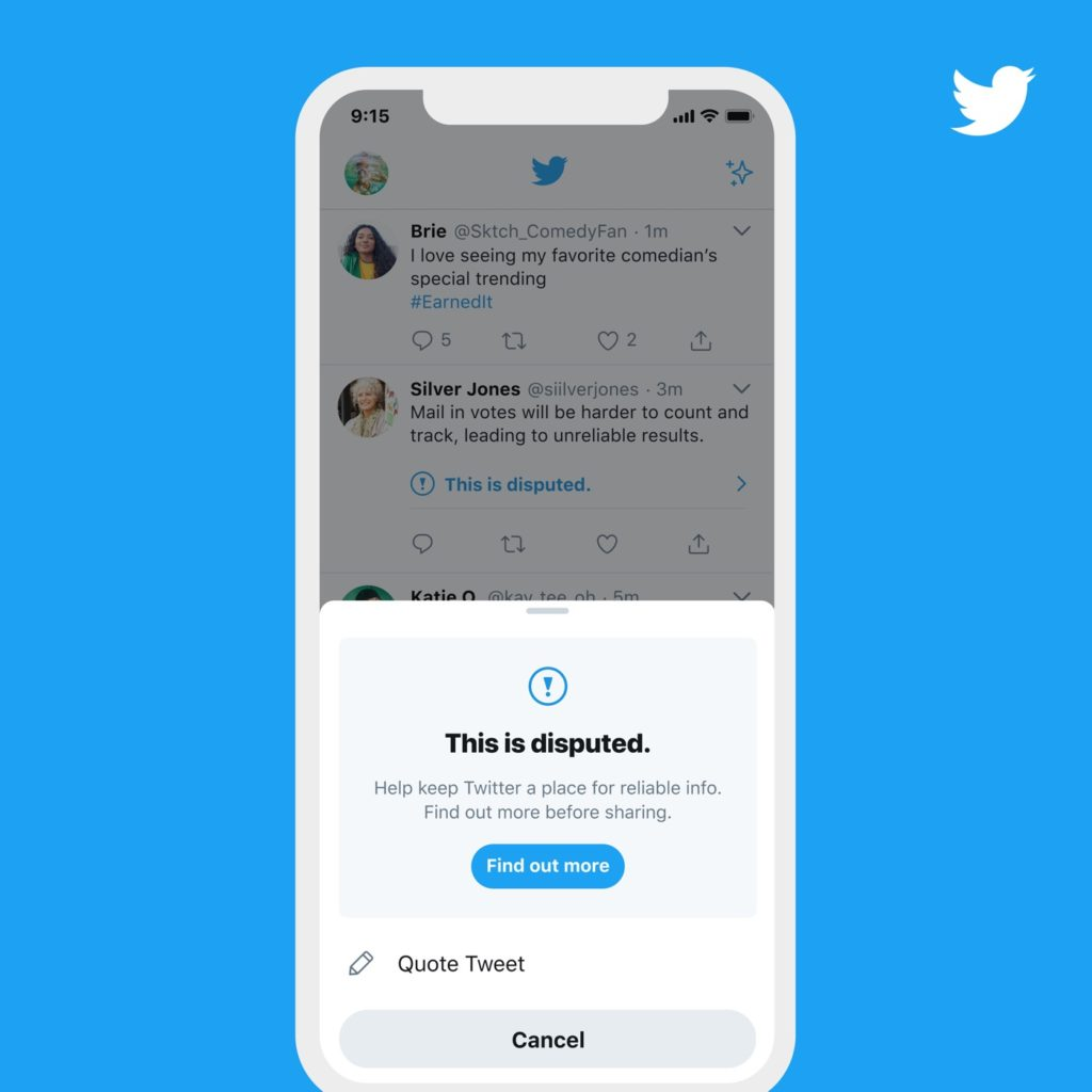 Twitter Alerte Tweet Information Erronée