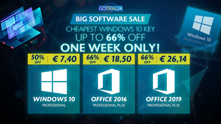 promos godeal24 debut octobre - Windows 10, office 365, office 2019