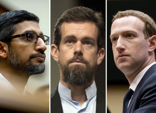 sundar pichai jack dorsey mark zuckerberg
