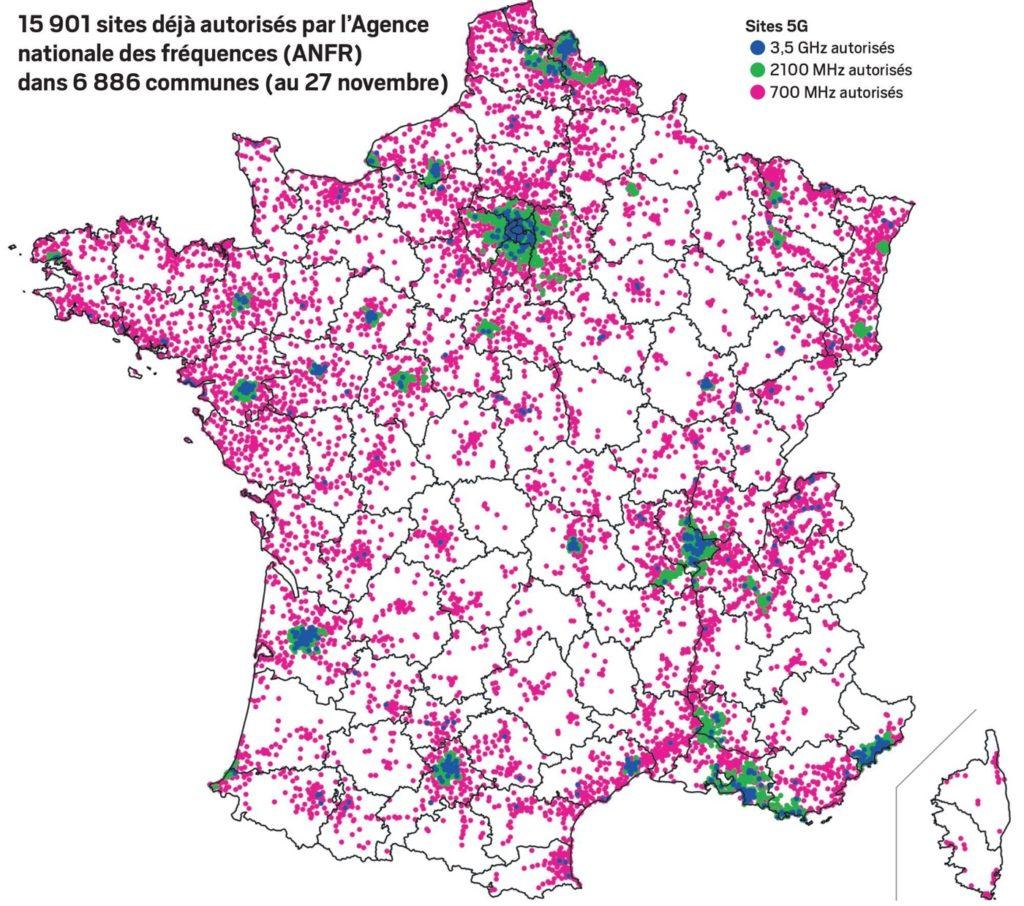 Carte Sites 5G Autorises