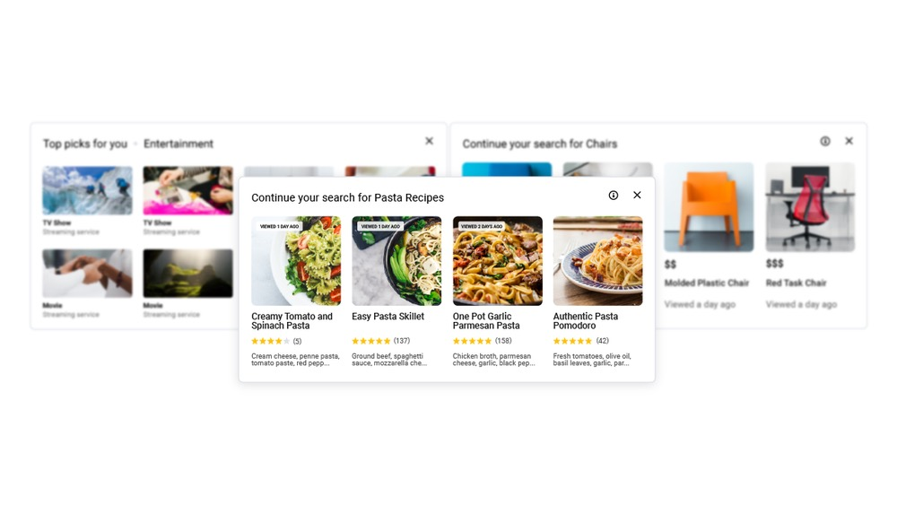 Chrome 87 Cartes Page Nouvel Onglet