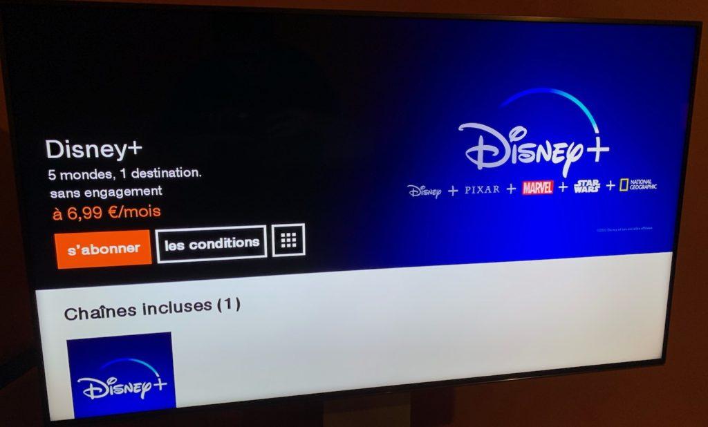 Disney Plus Orange Livebox