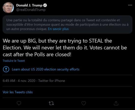 Donal Trump modération Twitter